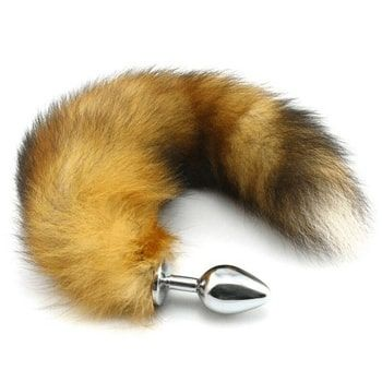 fur fox tail butt plug